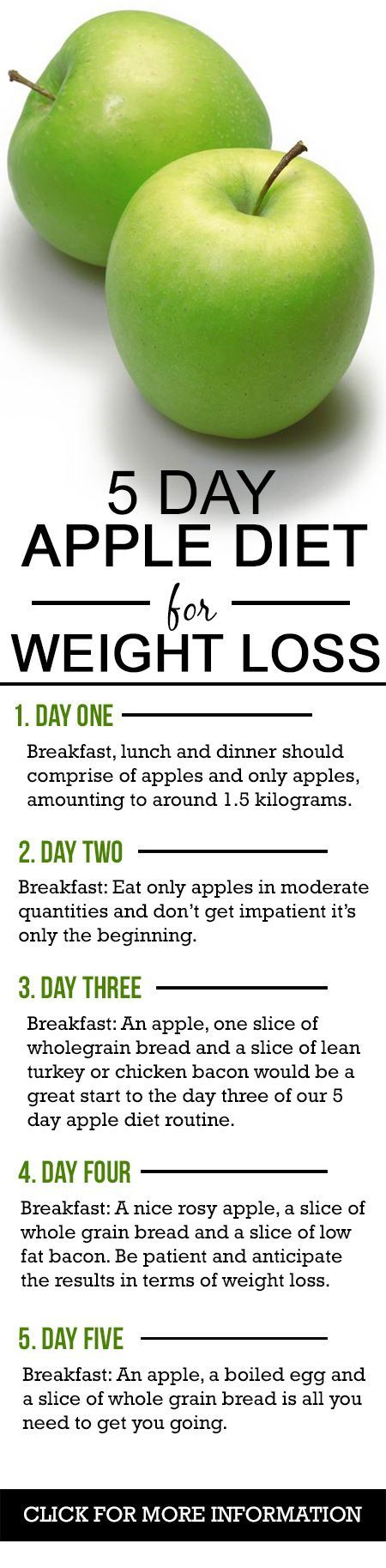 3 day apple diet before and after