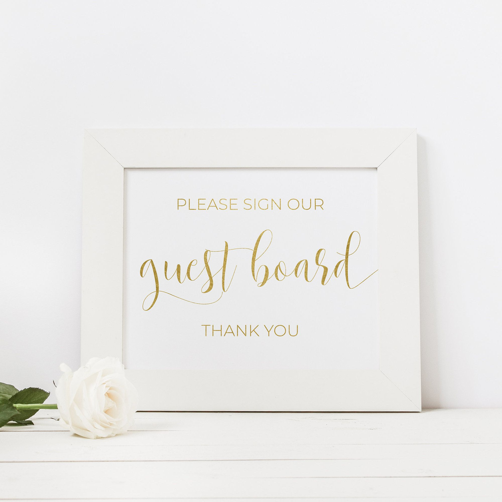 Gold Wedding Sign Gold Foil Wedding Foiled Wedding Signs Real Foil Guestbook Alternative Gold Guestbook Sign Photo Guest Book