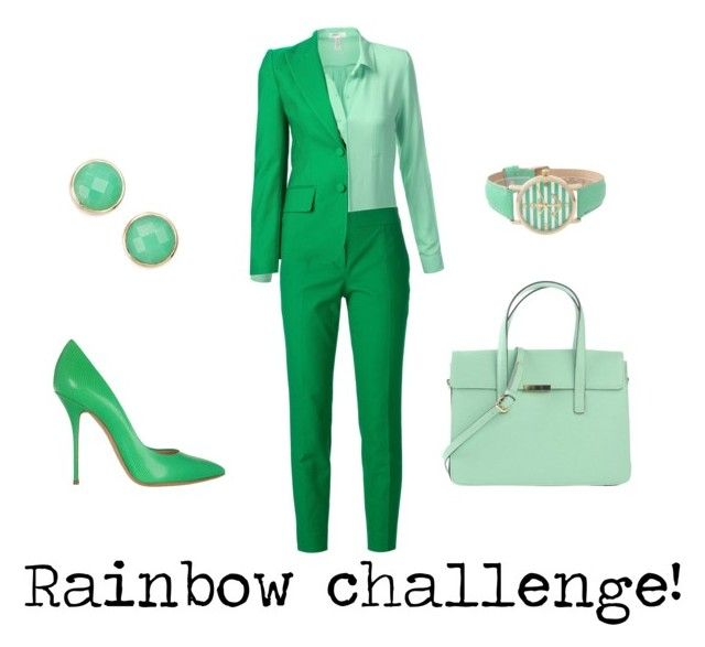 """""""Day 4 - Green"""" by uccelli ❤ liked on Polyvore featuring J.TOMSON, Dolce&Gabbana, Casadei, Melinda Maria and Olivia Pratt"""
