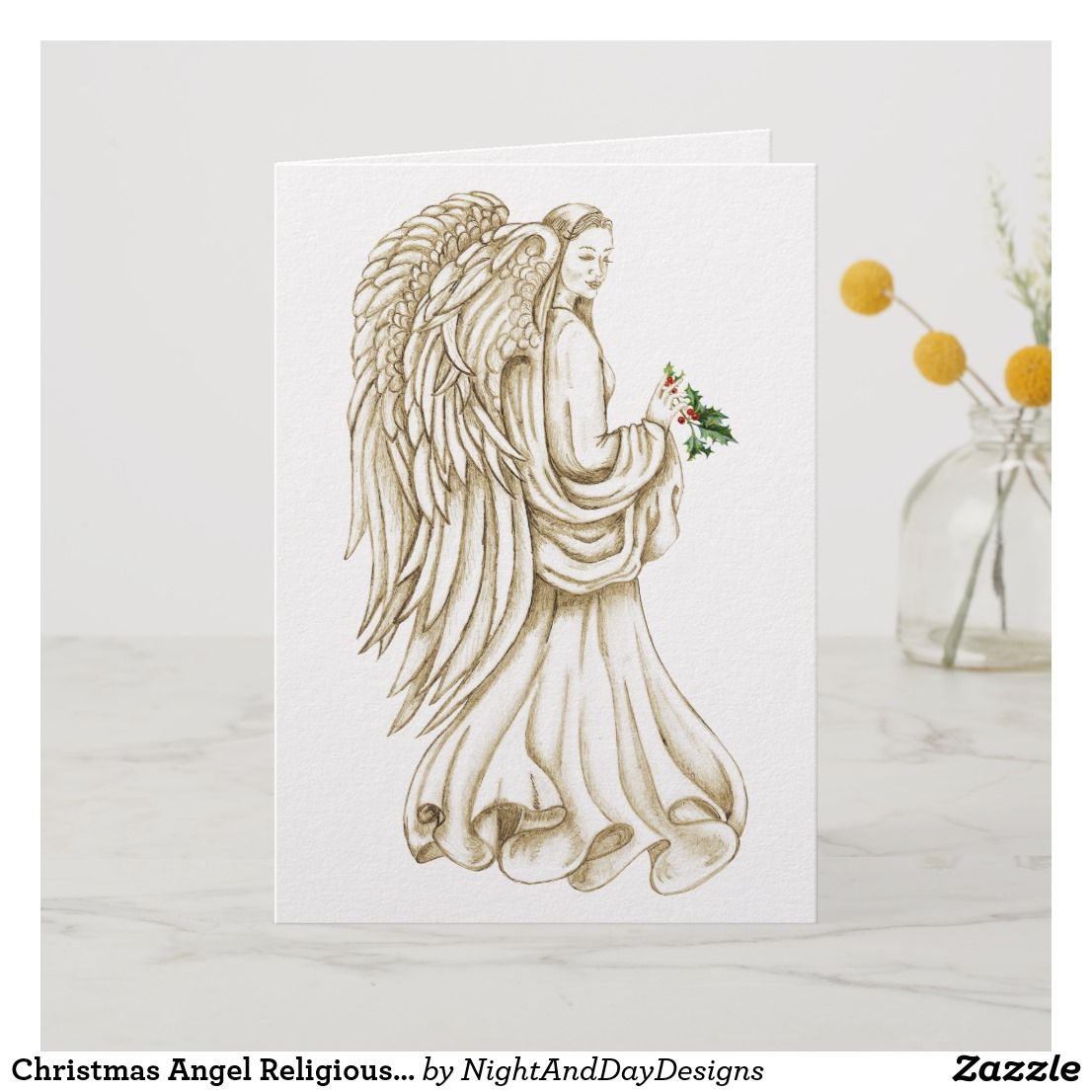 Christmas Angel Religious Holiday Card   Pinterest