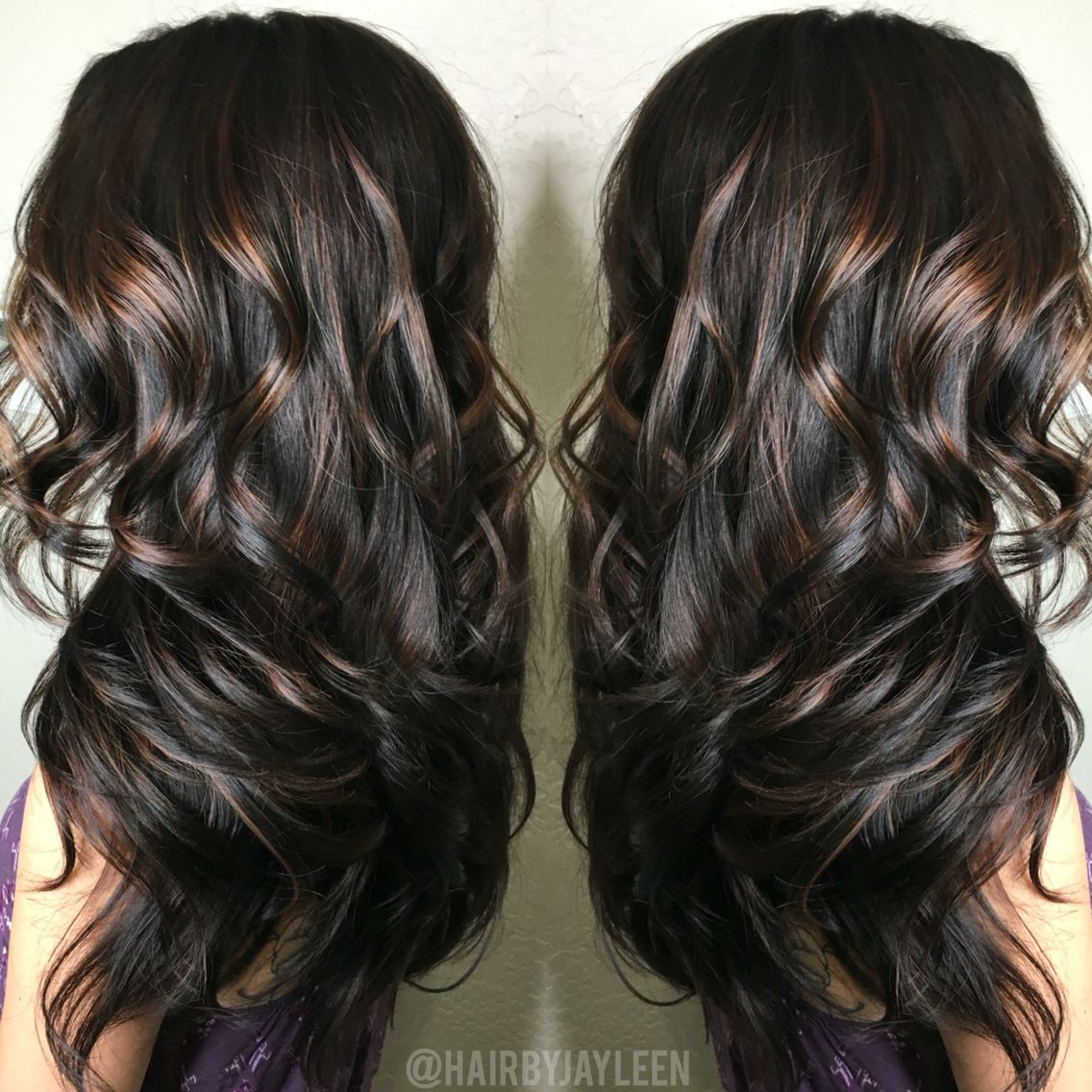Balayage Dark Hair Caramel Highlights Brunette Hair Dark Brown
