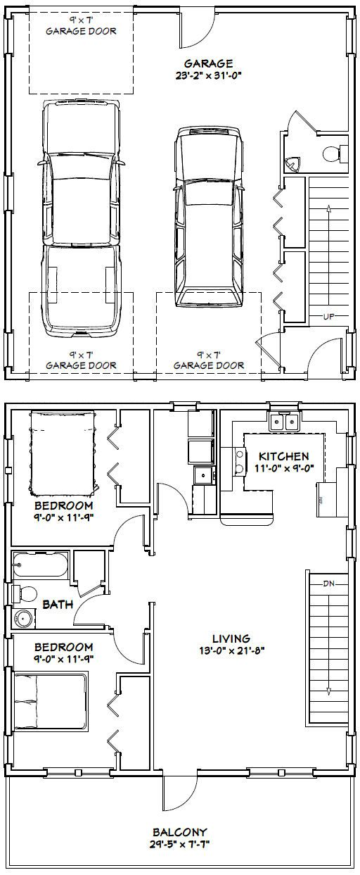PDF house plans, garage plans,  shed plans square house - Apartment House Plans