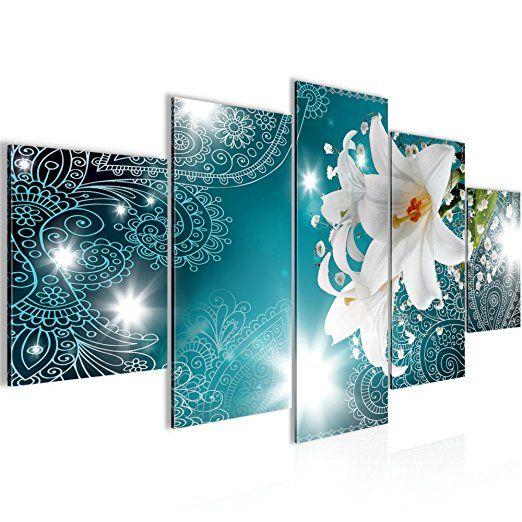 Bilder Blumen Lilien Wandbild Vlies - Bilder Blumen bilder pflanzen