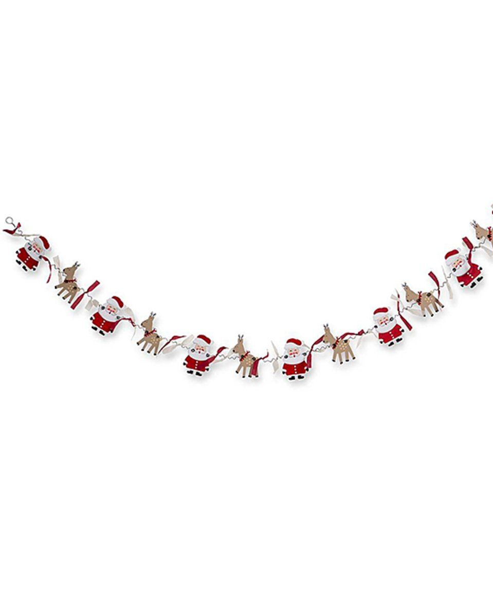 Take a look at this Santa & Reindeer Garland today! (With