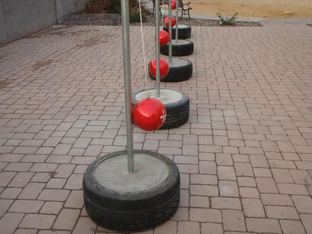 Instructional Video On How To Learn To Make A Portable Concrete Base Tire Tetherball Set That Is Made O Spielzeug Draussen Spielplatz Kinderspielplatz