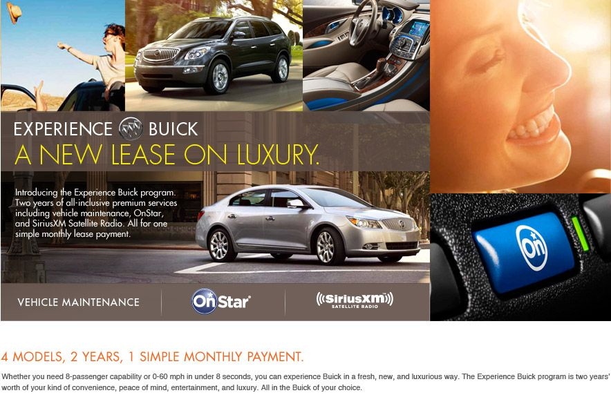Experience Buick Check Out This Sweet Lease Opportunity Buick