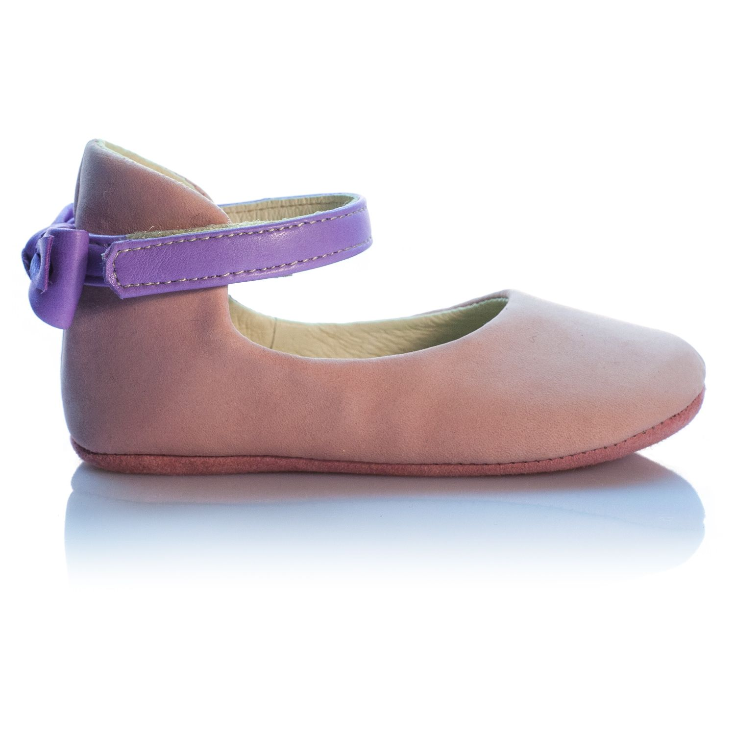 c0c3a6f09cd31 VIBYS handmade blush pink leather ballet flats for little girls ...