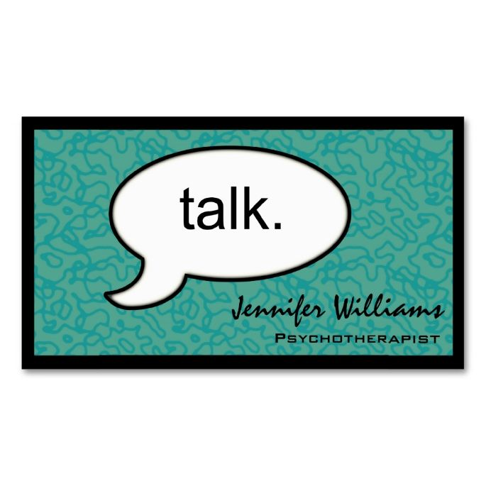 Thought Cloud Talk Psychotherapist Business Card Zazzle Com Psychology Business Card Psychotherapist Business Card Psychologist Business Card