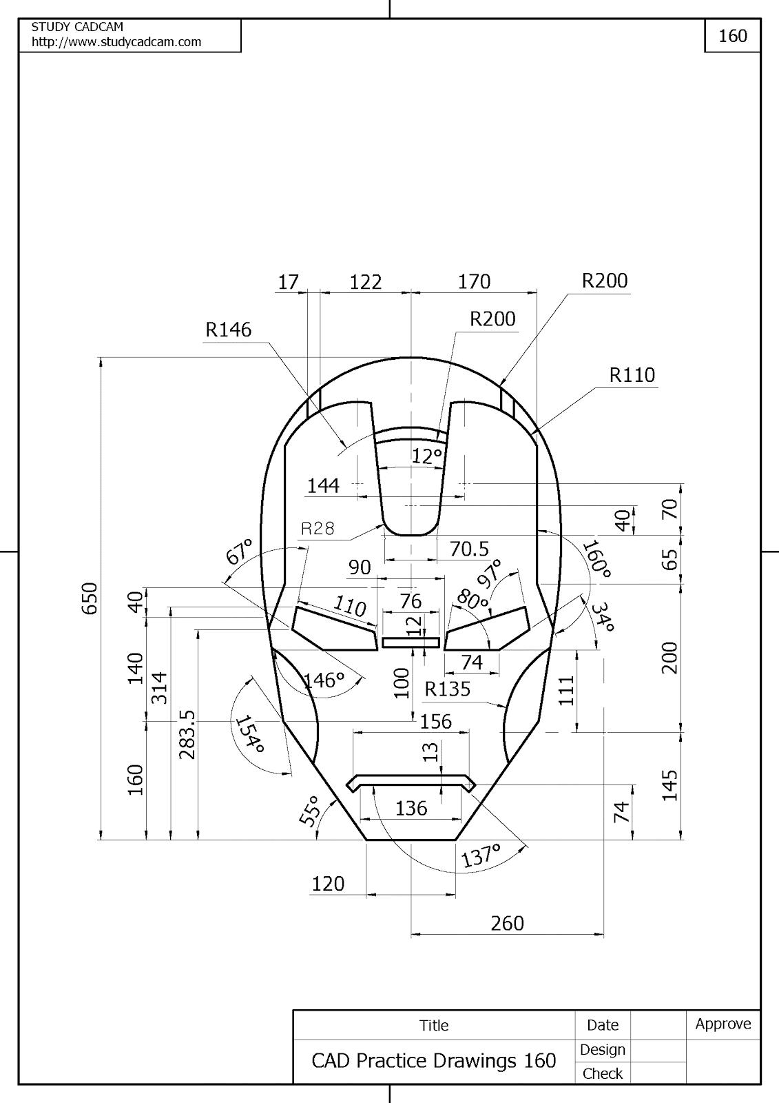 autocad drawings practice Google Search Teknik mesin