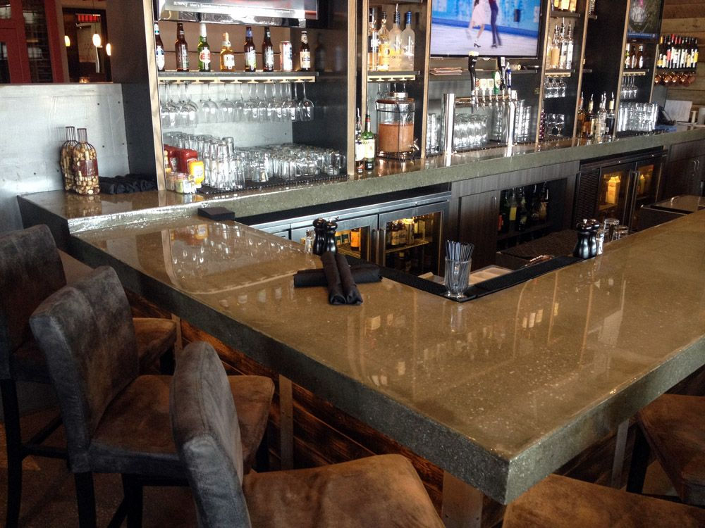Concrete Bar Top At The Red Door Bar And Grill In Leawood, Kansas