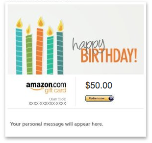 Amazon Best Gift Cards Happy Birthday Candles Birthday Gift Cards
