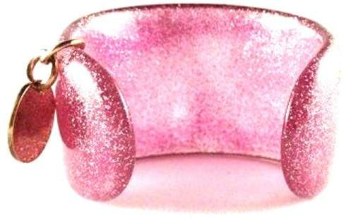 6a18e99af Gucci Glittered Pink Lucite Cuff Bracelet | Acrylic, Bakelite ...