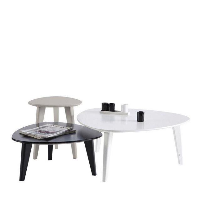 Set De 3 Tables Basses Scandinaves Stone
