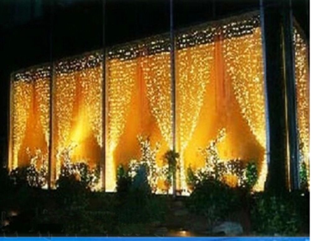 10ft X 5ft Warm White Led Outdoor Xmas Wedding Party Fairy Curtain
