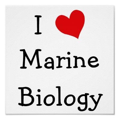 I Love Marine Biology Poster Pinterest Marines - marine biologist job description