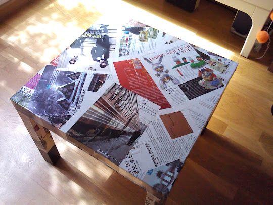 Mesa Lack tuneada con revistas chinas