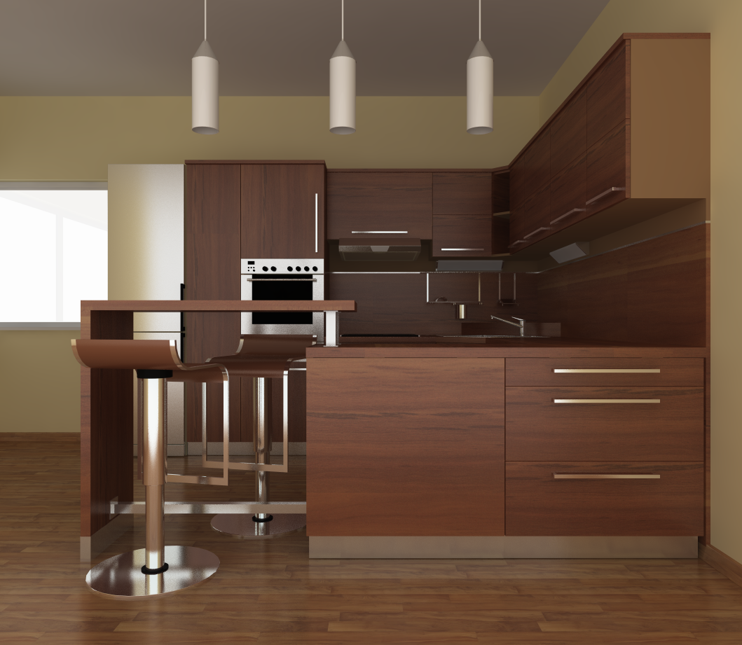 Etonnant Stylish Kitchen Design Created By Marián Jurčák Using TurboCAD Pro Platinum.