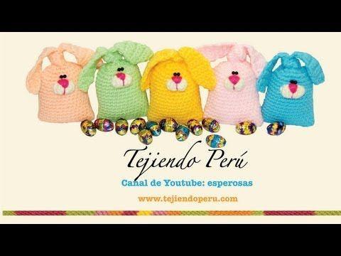 Conejos de Pascua rellenos de chocolates!!! (tejidos en crochet ...