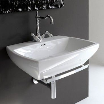 Jazz Wall-Hung Washbasin 70 JZL005 ACA022 JZA001 by Art Ceram | YBath  $941