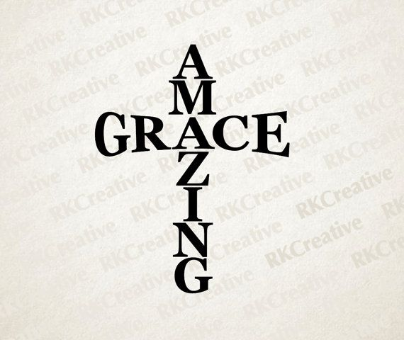 Amazing Svg: Amazing Grace, Vinyl Decal, Cross Decal, Religious Decal
