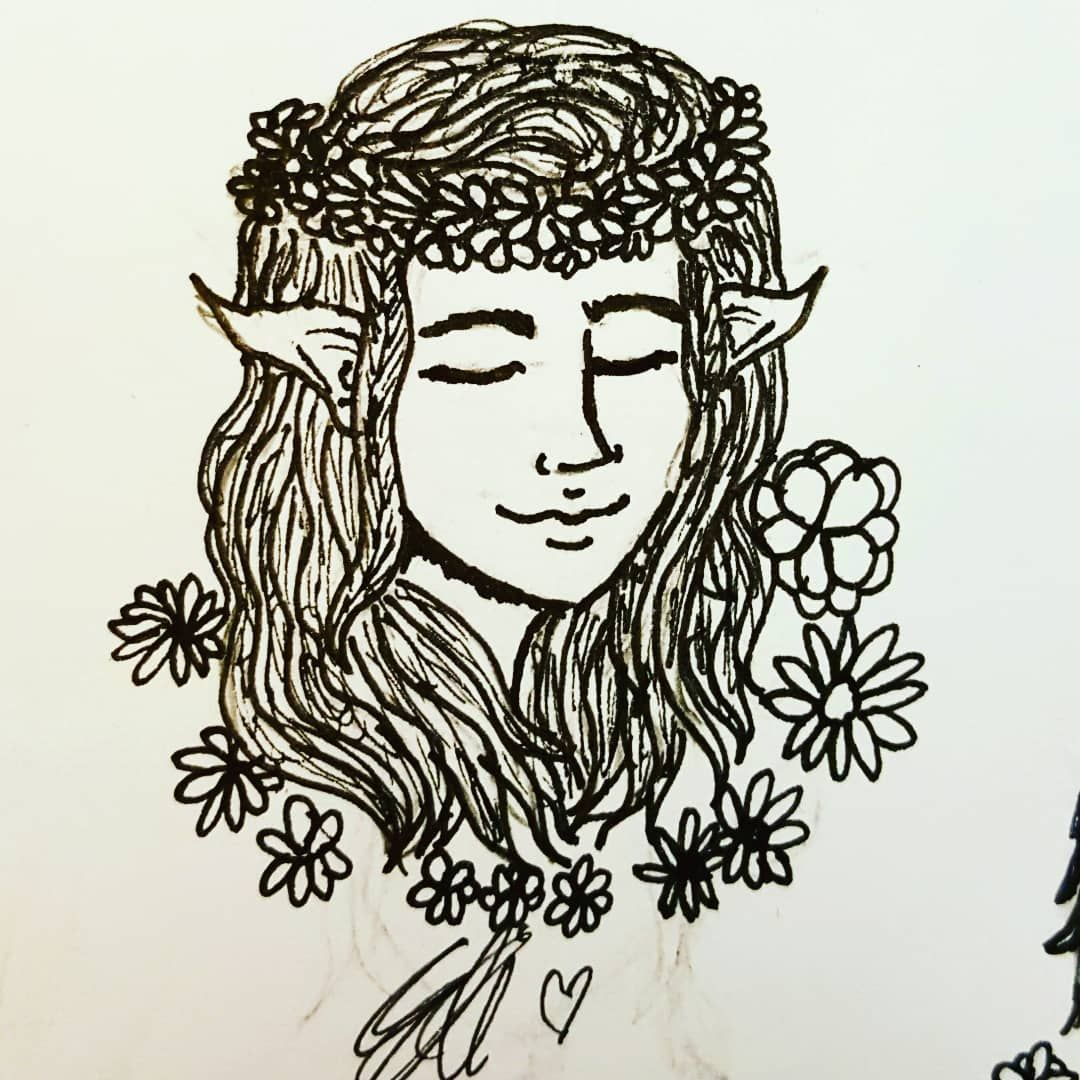 Heres my main 4 ocs in flower crowns Im lowkey really proud of them