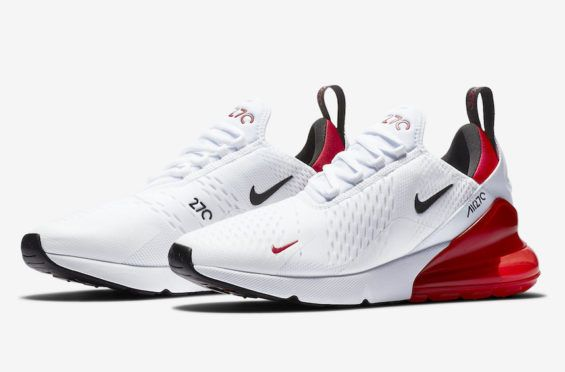 White And University Red Land On This Nike Air Max 270