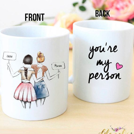 Personalized Best Friend Gift You Re My Person Unique