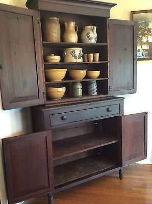 1800 S Antique Kentucky Jackson Press Cupboard Cabinet Ebay Southern Furniture Cabinet Kitchen Decor