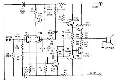 Make a complete power amplifier for home circuit diagram and audio audio ocl 150 watt power amplifier circuit diagram ccuart Images