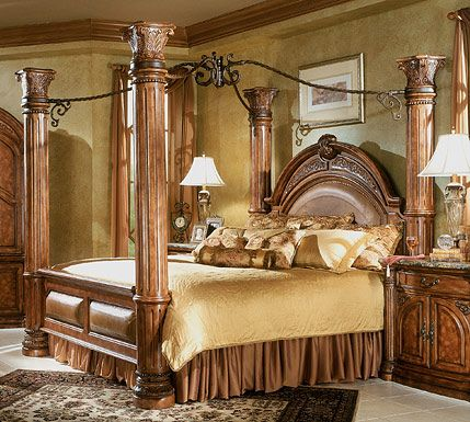 Furniture Fit For Kings And Queens Classic Bedroom Design Brown Furniture Bedroom Canopy Bedroom Sets