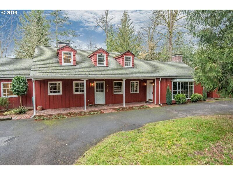 Period-Perfect Pick of the Week: 1947 Cape Cod Style (SW, Garden Home). The address says it all - CHARMING! Knotty pine paneling, beamed ceilings, vintage kitchen and baths, huge .59 acre lot. 4 beds, 2 baths. $595,000. Listing courtesy of Premier Property Group. 4045 SW CHARMING WAY, Portland, OR 97225