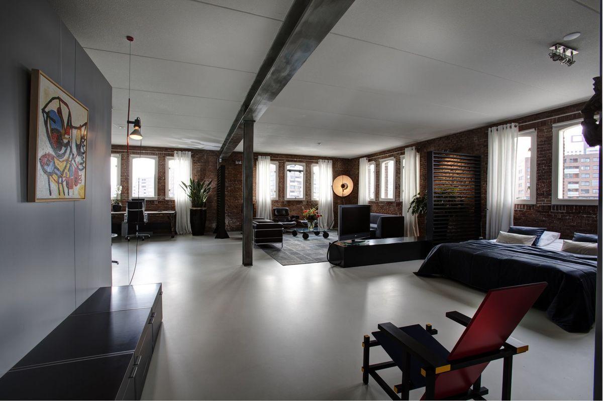 Stoere Industriele Loft : Loft inrichting wooninspiratie foto s industriële loft met een