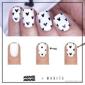 Photo of Einfache Mickey Mouse Nail Art #disney #disneynailart #disneynails #nailart – #A …