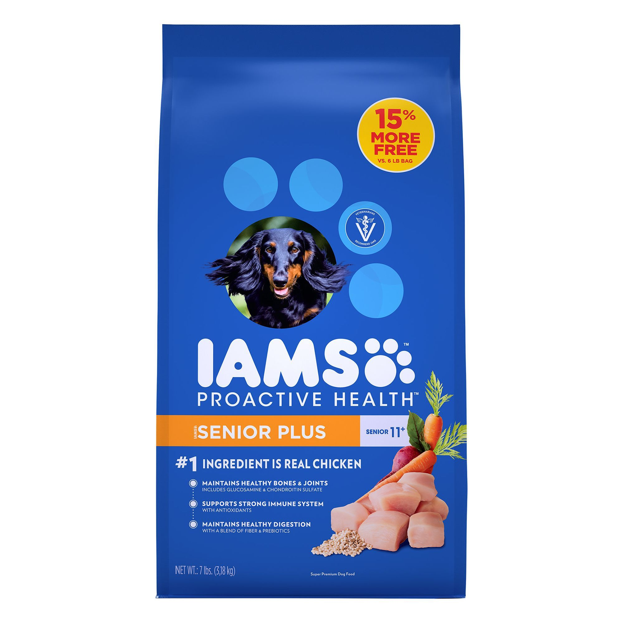 Iams proactive health senior dog food chicken size 7
