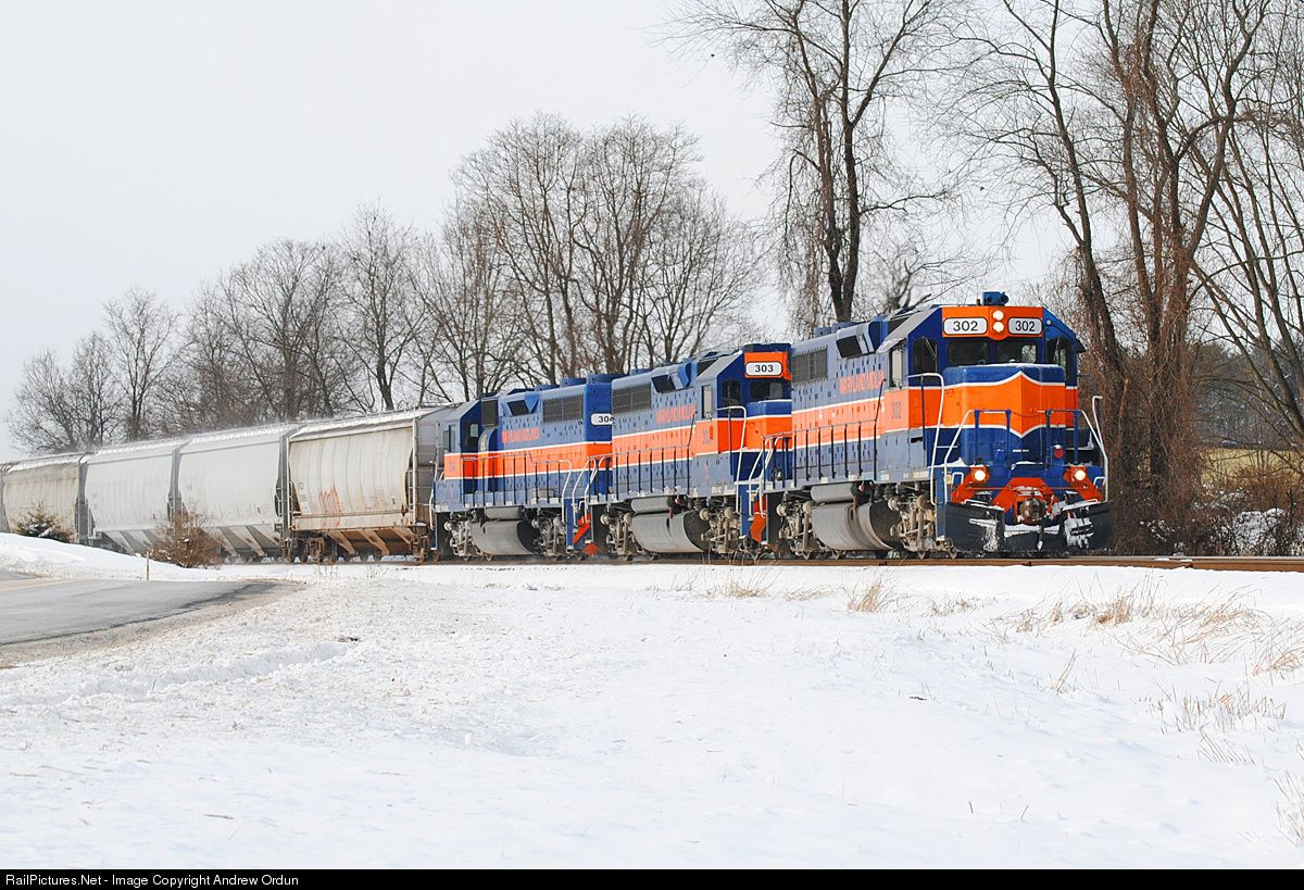RailPictures.Net Photo: MMID 302 Maryland Midland Railway EMD GP38-2 at Westminster, Maryland by Andrew Ordun