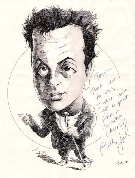 Billy Joel   Celebrity Caricatures   Celebrity caricatures ...