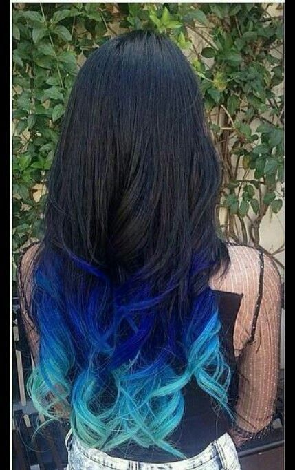 I Dont Like The Color Blue But I Love This Dyed Hair Blue Brown Hair Dye Dyed Ends Of Hair