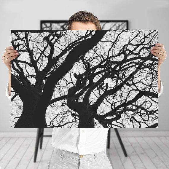 Abstract+Tree+Branches+-+Black+and+White+Nature+Photography%2C+Digital+Download+%7C+Gothic+Wall+Decor+by+Mila+Tovar