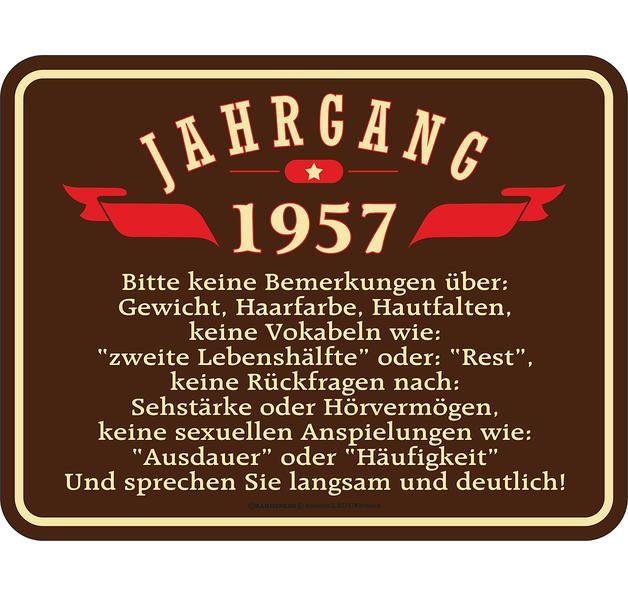 Jahrgang 1957 Blechschild Spruche Zum Geburtstag Geburtstag