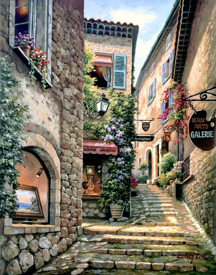 Italian street scene by sung kim 23572 scenes for Definition for mural