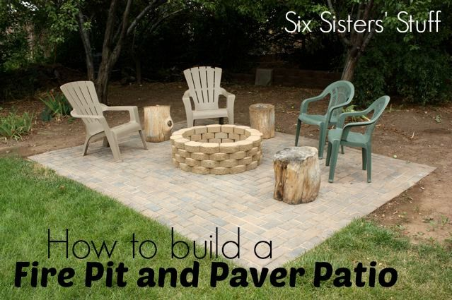 How To Build A Fire Pit And Paver Patio Tutorial Plus A Video Tutorial How To Build A Fire Pit Fire Pit Backyard Ponds Backyard