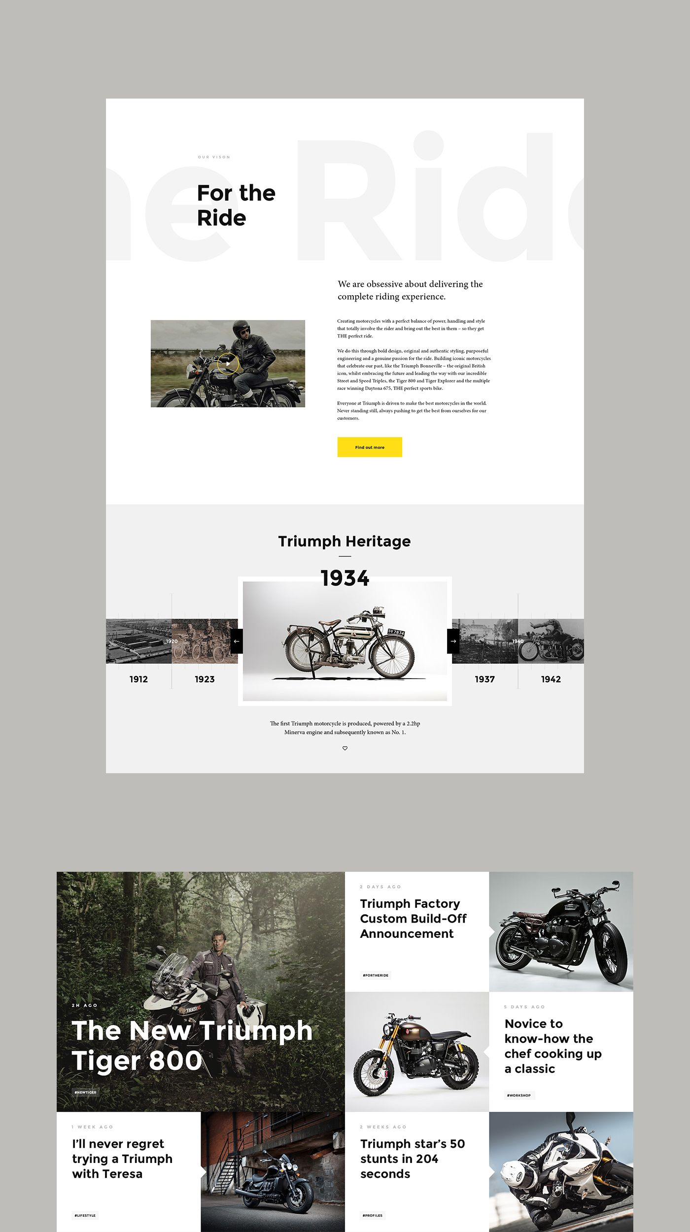 Triumph Motorcycles — Website Concept on Behance