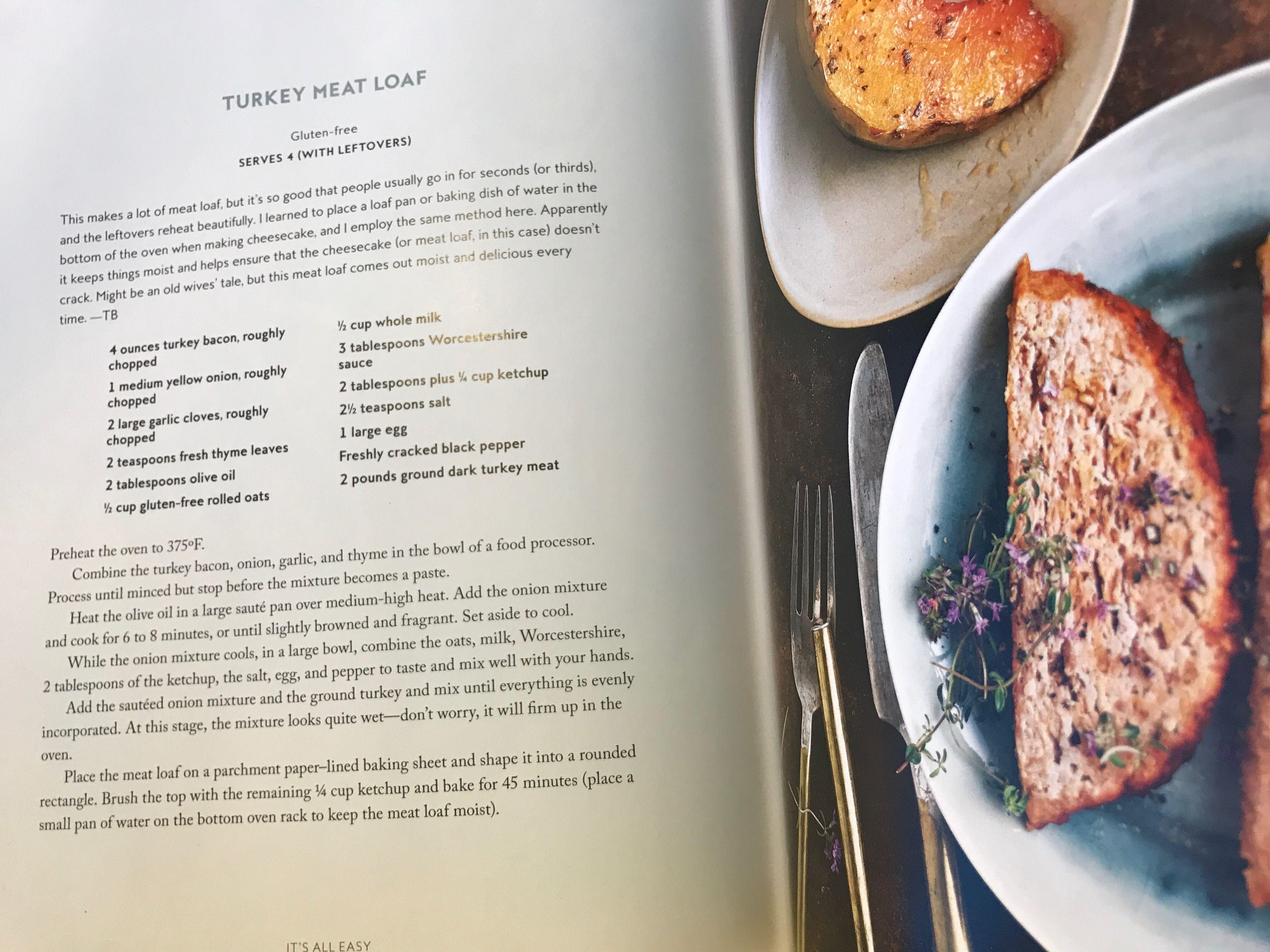 Turkey Meatloaf By Gwyneth Paltrow Via Its All Easy Turkey Meatloaf Main Dish Recipes Food
