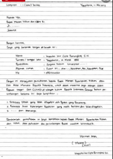 Contoh Surat Lamaran Tulis Tangan Cpns Tulisan Tangan Tulisan Riwayat Hidup