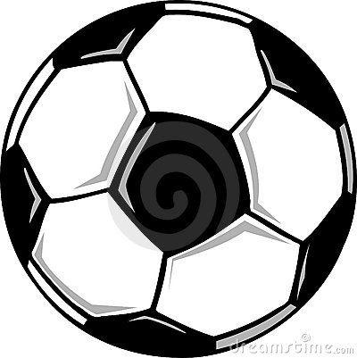 A Cartoon Black And White Soccer Ball Soccer Ball Soccer Ball