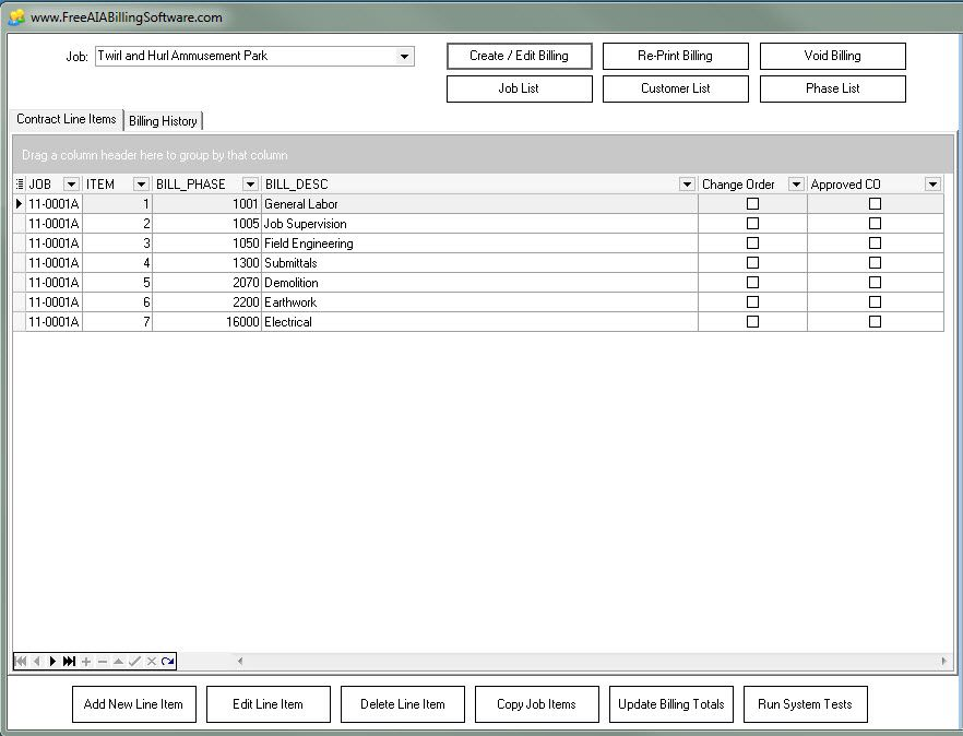 Free AIA Billing Software For Constuction Companies Print On - Aia format invoice online grocery store