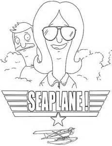 Bobs Burgers Printable Coloring Pages Linda And Bob Sea Plane