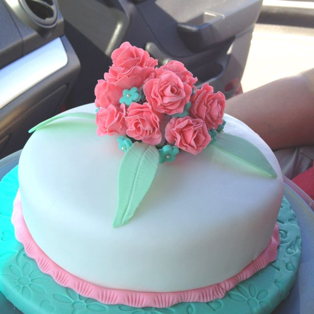 Final cake from Wilton cake decorating class course 4. Very fun classes!
