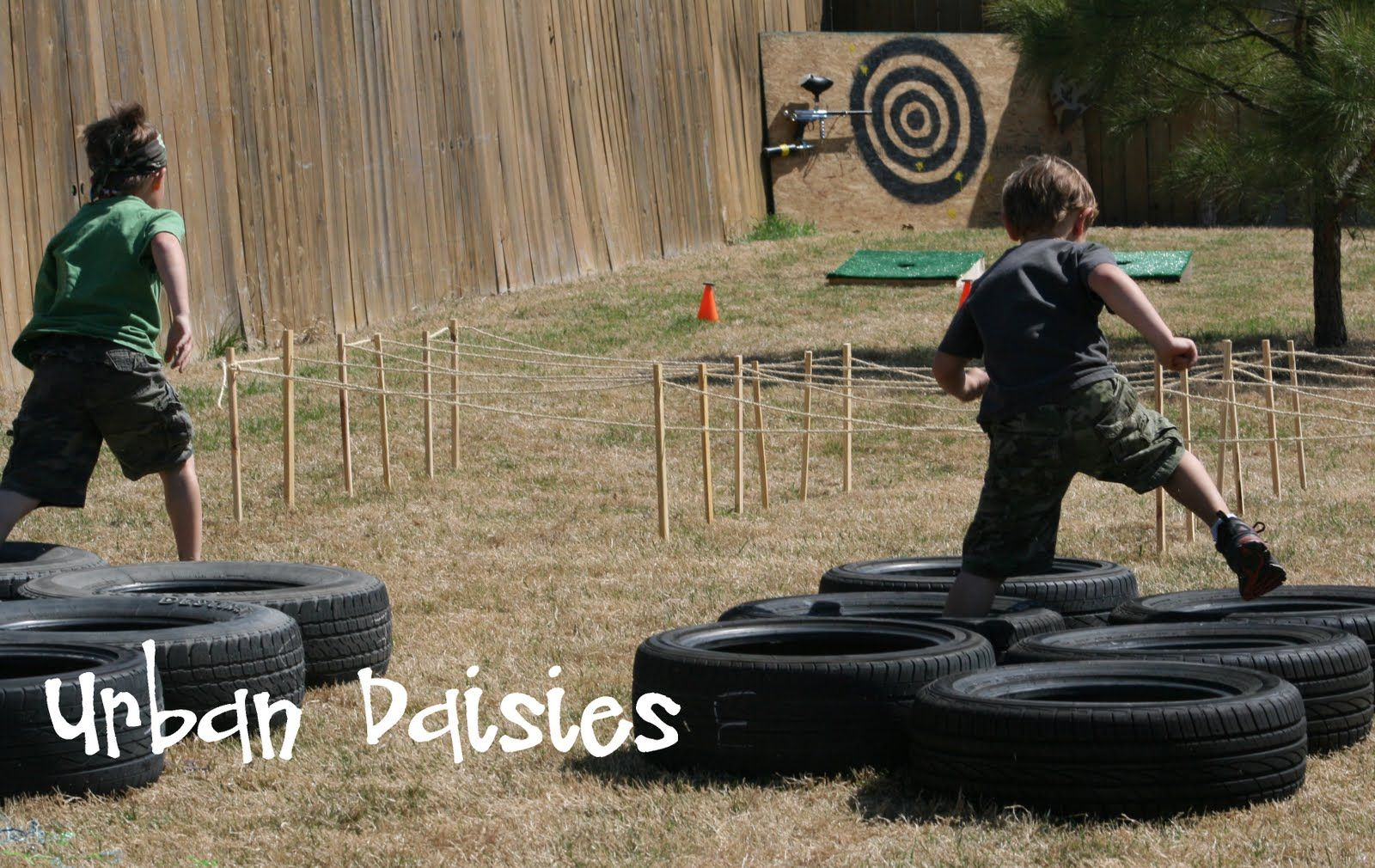 Army Birthday Party idea Run an obstacle course in the backyard