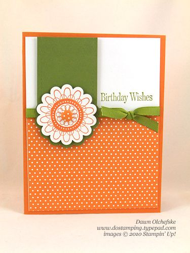 Stampin Up Convention Punched Posies Swap Designer Brads